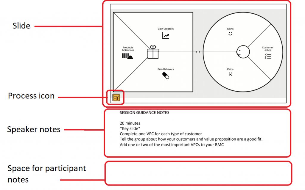 Slide features in workbook