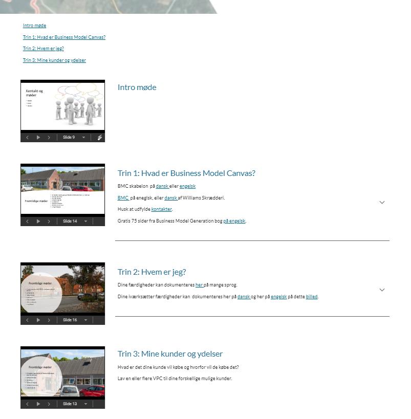 Presentation-driven programme